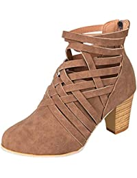 Mine Tom Minetom Botas Zapatillas Moda Tejiendo Botines Mocasines Chelsea  Boots Mujer Tacón Altos a5611fd5cda2