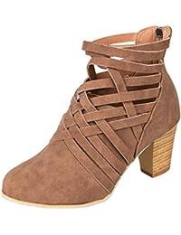 Mine Tom Minetom Botas Zapatillas Moda Tejiendo Botines Mocasines Chelsea  Boots Mujer Tacón Altos 63989b5b5b3a