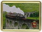 400g Shortbread Classic Collection - The Jacobite' On Glenfinnan Viaduct Lokomotive / 400Gramm Feinstes shottisches Shortbread in einer geschmackvollen Dose zum sammeln oder verschenken