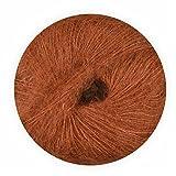 Mohair Wolle mit Seide braun 70/30 25g - 210 Meter, zum Stricken und Häkeln Marke: LaLuna®