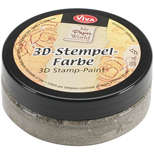 Preisvergleich Produktbild Viva Decor Silber gld-3d Stempel Paint