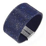 Fabulous Bijoux Bracelet Manchette Strass Cristal à fermture magnétique très Tendance