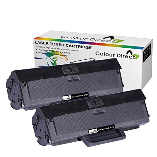 Doppelpack Colour Direct Schwarz High Kompatible Tonerkartusche Ersatz für Samsung MLT-D1042 ML-1660,...