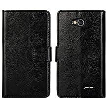 E9Q Folio Magnético PU Cuero cartera Cubierta Caso Soporte Funda para LG Optimus L90 D415