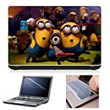 Laptop Skin (Minions) + Screen Guard + Keyboard Protector Combo by First Look Trend