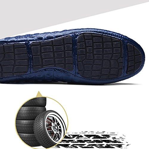 QIANGDA Giovanotto Scarpe Casual Infilarsi Le Scarpe Primavera Estate Ventilare Moda Anti Scivolo, 3 Colori Opzionale ( Colore : Marrone , dimensioni : EU44 = UK10.5 ) Blu