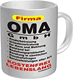 Rahmenlos Fun Tasse - Firma Mama Papa Oma Opa GmbH - verschiedene Motive zur Auswahl Farbe Firma Oma