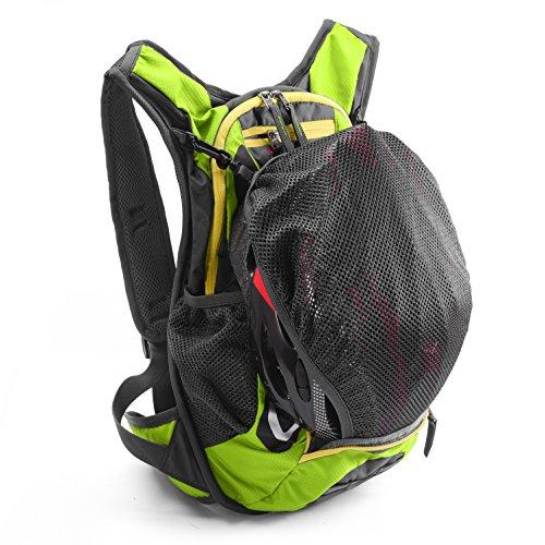 Juboury 15L Hadration Pack--Trinkrucksack mit 2L Trinkblase und Schutzabdeckung für alle Wetter zum Laufen, Wandern, Radfahren und für alle anderen Outdoor-Sportarten bei der Sie Flüssigkeit benötigen Grün