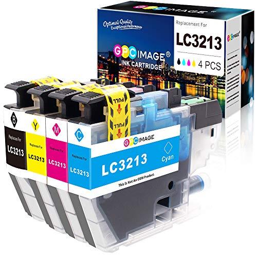 GPC Image Kompatible Tintenpatronen als Ersatz für Brother LC3213 LC-3213 für MFC-J895DW MFC-J890DW MFC-J497DW DCP-J572DW DCP-J772DW DCP-J774DW Drucker(Schwarz,Cyan Magenta Gelb, 4er-Pack