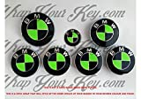 Noir et Vert toxiques BMW emblème Badge Overlay capuche de jantes compatibles avec toutes les BMW X Drive