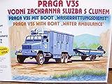 SDV LKW Truck Praga V3S Wasserrettungsdienst mit Boot Kunststoff Modellbausatz 1:87 H0