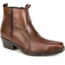 Pavers Leather Boot with Cuban Heel & Stitch 123 079 - 51thXsATURL - Pavers Leather Boot with Cuban Heel & Stitch 123 079