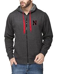 Scott International Charcoal Grey Cotton Comfort Styled Hooded Men's Sweatshirt