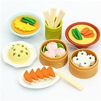 Set de gomas Iwako de comida china Dim Sum 7 unidades