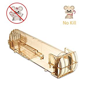 SAFETYON Auto Mouse Trap Safety Humane No KillRat Rodents Pest Control Bucket Mice Catcher, Catch and Release Trap Brown