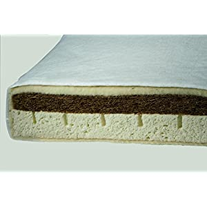 Prolana 60 x 120 cm Kindermatratzen Kati Plus Schafschurwolle, Naturkautschuk, Kokoskautschuk