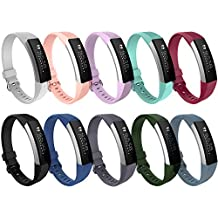 Fitbit Alta HR and Alta Bands, I-Smile Newest Original Version Adjustable Replacement Wristband for Fitbit Alta HR/Fitbit Alta, Buckle, 10 Colors, Large, Small