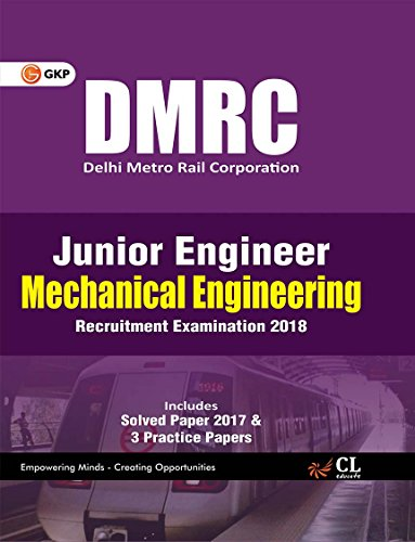 DMRC Junior Engineer Mechanical Engineering Recruitment Examination 2018