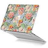 GMYLE MacBook Air 13 Hülle - Hochwertige Matt Gummierte Hartschale Tasche Schutzhülle Snap Case für Apple MacBook Air 13.3 Zoll (A1466/A1369), Geblümt Tropisch Pastell Florales