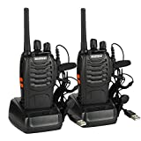 BaoFeng BF-88E PMR Walkie Talkies Long Range Two Way Radio with Earpieces Handheld