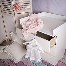 ¡Bordes redondeados! Cambiador superior (blanco) adecuado para todas las cómodas Malm de IKEA