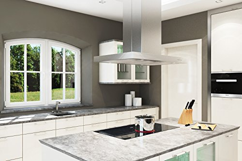 neg dunstabzugshaube neg36 umluft edelstahl inselesse mit led beleuchtung 90cm motorleistung. Black Bedroom Furniture Sets. Home Design Ideas