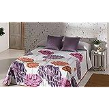 Glam Chantal 1 - Colcha jacquard para cama de 150 cm, 250 x 270 cm, color morado