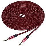 Cable auxiliar de audio estéreo de 3,5 mm macho a 3,5 mm