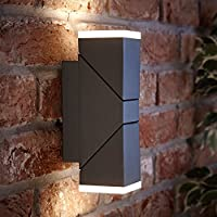 Biard Aplique LED Mural Interior Capri 13W Interior o Exterior Cuadrado – Jardín Baño Resistente al