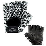 C.P. Sports Fitness Handschuh Klassik Trainings Handschuhe farbig XS/6 = 14-16cm silbergrau für Damen & Herren