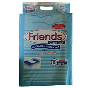 Friends Underpads Care 365 - Hygienic Disposable Pad 60cm X 90cm pack of 10's (Large)