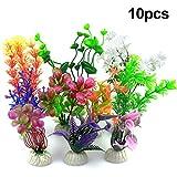 Vascinate Plantes en Plastique d'aquarium d'aquarium, 10 décorations d'aquarium d'aquarium de Plantes, Plantes artificielles d'aquarium décoration d'aquarium