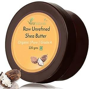 VeraNaturals Raw Unrefined Shea Butter, 220g