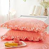 Wmshpeds Spitze dicker Baumwolle Kissen Kissen Kissen ein Stück Marmor Kissen Kissenbezug 48 x 74Kissenbezug