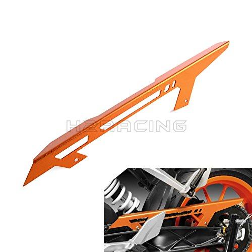 Preisvergleich Produktbild H2RACING Orange Rear Antrieb Fahrbahnkette Kettenschutz Kettenradschutz Kettenradabdeckung für Duke 125/200/390 2013-2016,RC 125/200/390 2014 2015 2016