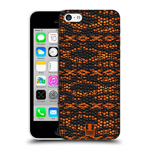 Head Case Designs Arancione Pelle Di Camaleonte Pattern Cover Retro Rigida per Apple iPhone 7 Plus / 8 Plus Arancione