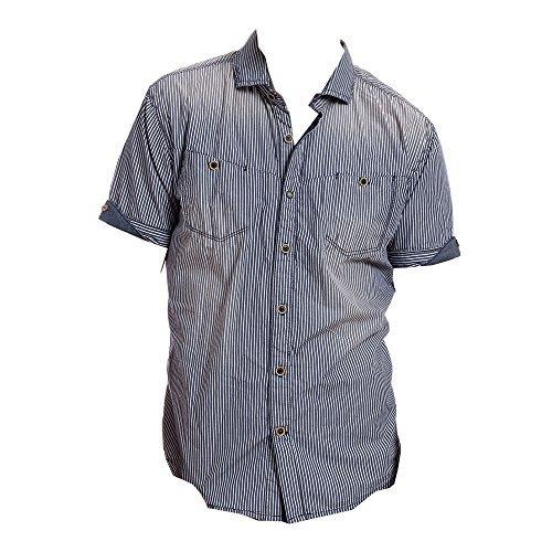 Timezone Shortsleeve Shirt - classic blue stripe