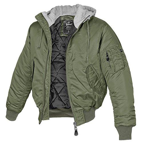 Brandit MA1 Sweathood Jacke oliv L
