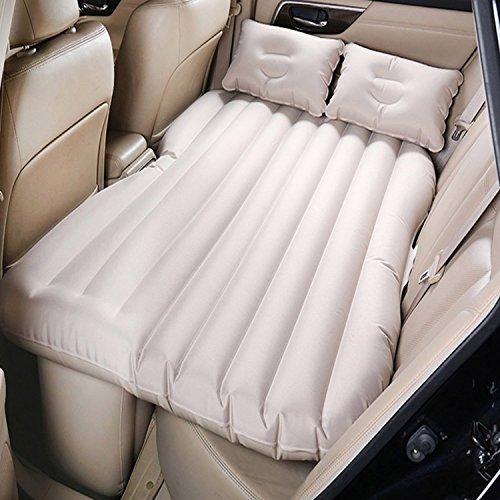 Auto-Luft-Bett, Auto-Rücksitz-Luftmatratze-Auto-bewegliches Kissen-aufblasbares Bett Aufblasbares Gast-Luftbett für im Freien reisendes Campingfahrzeug SUV-Rücksitz-ausgedehntes Kissen-Schlaf-Sofa (Beige)