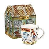 Queens ocio de squash taza el ciclista 400ml caja de regalo, porcelana, multicolor, 9,5x 9,5x...