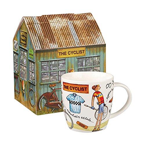 Queens a tu Ocio de Squash Taza el Ciclista 400ML Caja de Regalo, Porcelana, Multicolor, 9,5x 9,5x 10cm