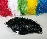 Tanzwedel Pom-Pon Farbe schwarz 50 g Cheerleader Puschel Chearleading