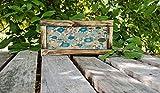 Derles Papier Peint en Bois Shabby Chic - Panneau Vintage en Bois Rustique - Motif Floral des années 70