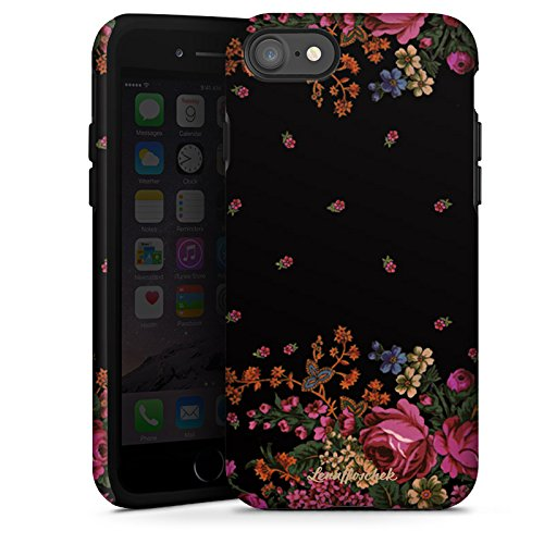 Apple iPhone X Silikon Hülle Case Schutzhülle Rosen Fashion Mode Tough Case glänzend