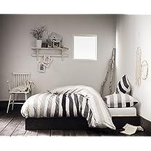 VANCOUVER beige - Juego de cama para 2 personas : Funda Nórdica 260x240 cm + Fundas de almohada 63x63 cm