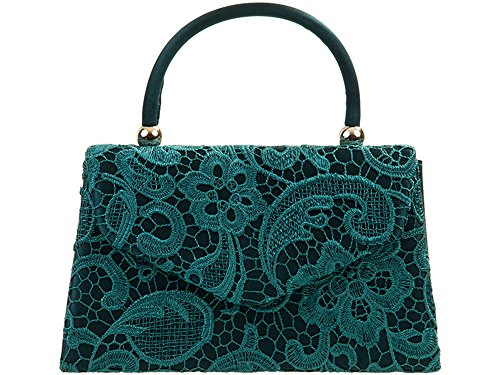Other , Damen Clutch nude nude teal green lace