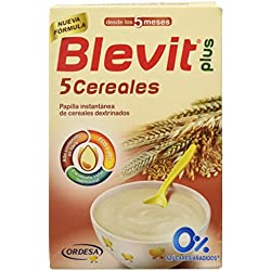 Blevit Plus 5 Cereales para bebé - 4 de 300 gr. (Total 1200 gr.)