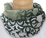 PiriModa XXL Damen Schal leichter Schlauchschal Viele Farben (Grün/Beige)