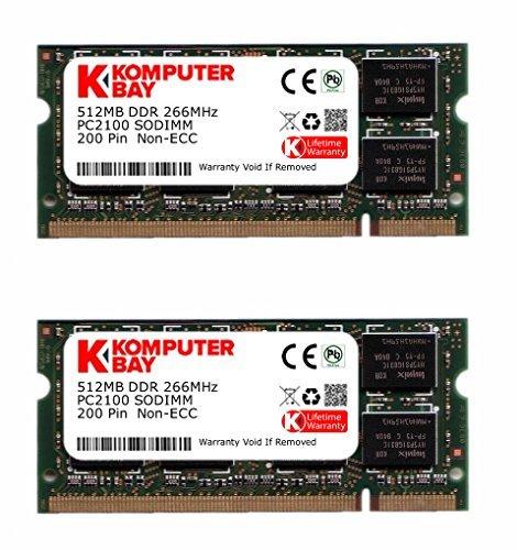 Komputerbay 1GB (2X512MB) 266Mhz DDR SODIMM (200 pin) PC2100 für Asus A5Ec 1 GB (2X512MB) -