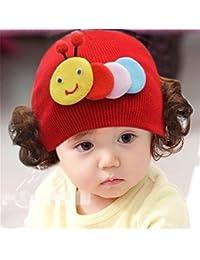 Enfants Bouchon Bonnet en tricot chaud bandeau bandeau perruque Chapeau Princesse Fille Style F